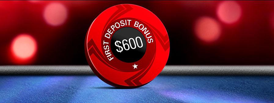 Бонус 600$ за первый депозит с промокодом STARS600 от ПокерСтарс