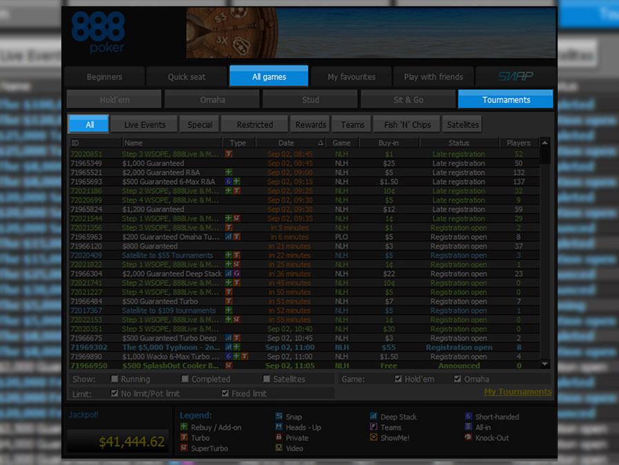 Многостоловые турниры в руме 888покер